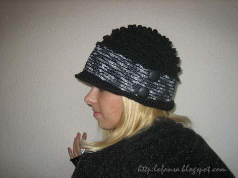 tamborēta cepure retro stils lofonsa closhe