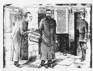 Fr. Richard Enraght entering Warwick Prison in 1880