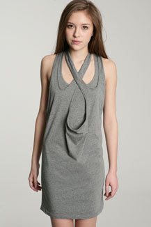 grey marl cut out dress