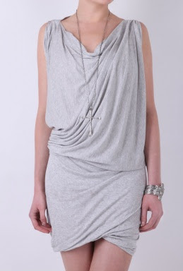 grey marl draped vivienne westwood dress