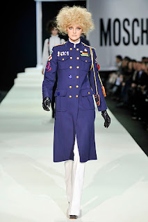 military style coat moschino