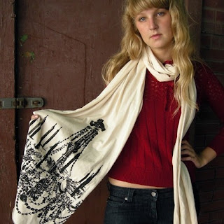 chandelier long print scarf