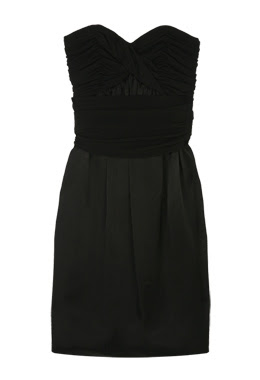 philosophy di alberta feretti black strapless dress