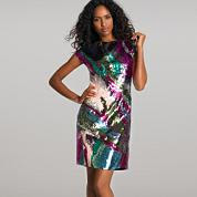 multi colour sequin dress