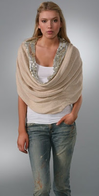 sequin cowl scarf wrap