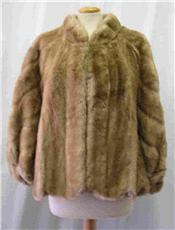 vintage faux fur cape
