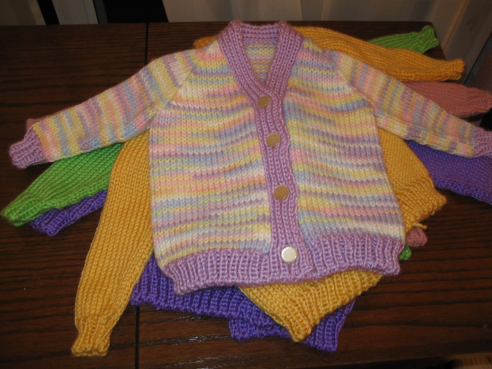 Free Knitting Machine Patterns : Diana natters on... about machine knitting: Baby Sweater Samples for Upcoming...