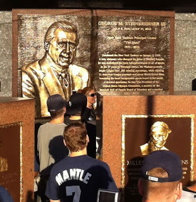 george steinbrenner plaque is so big