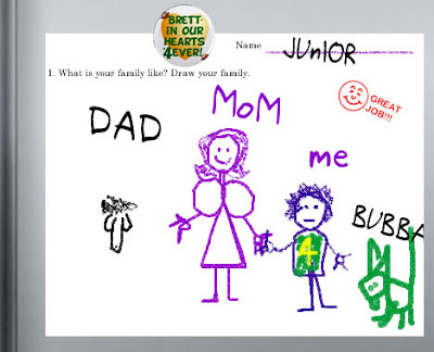 favre's troubled child's art work