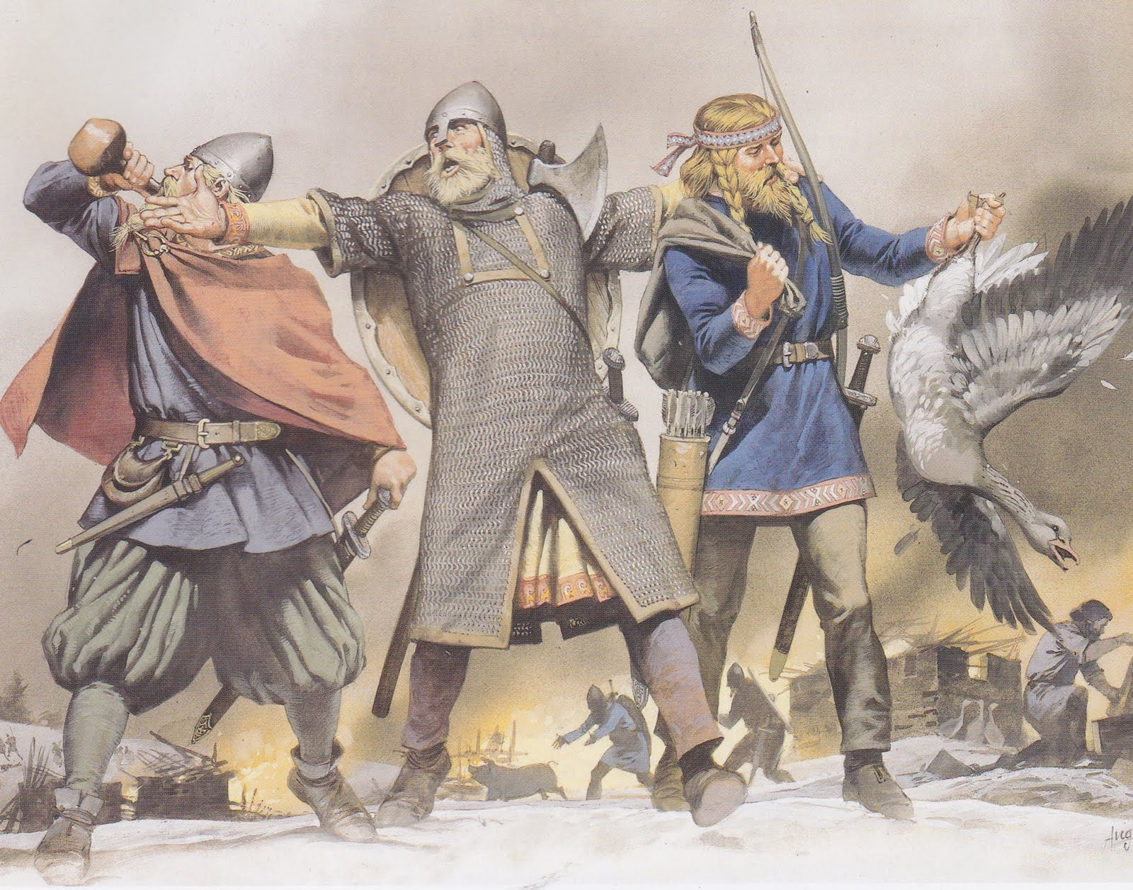 Teutonic and Celtic men of Northern and Western Europe: Norwegians ...