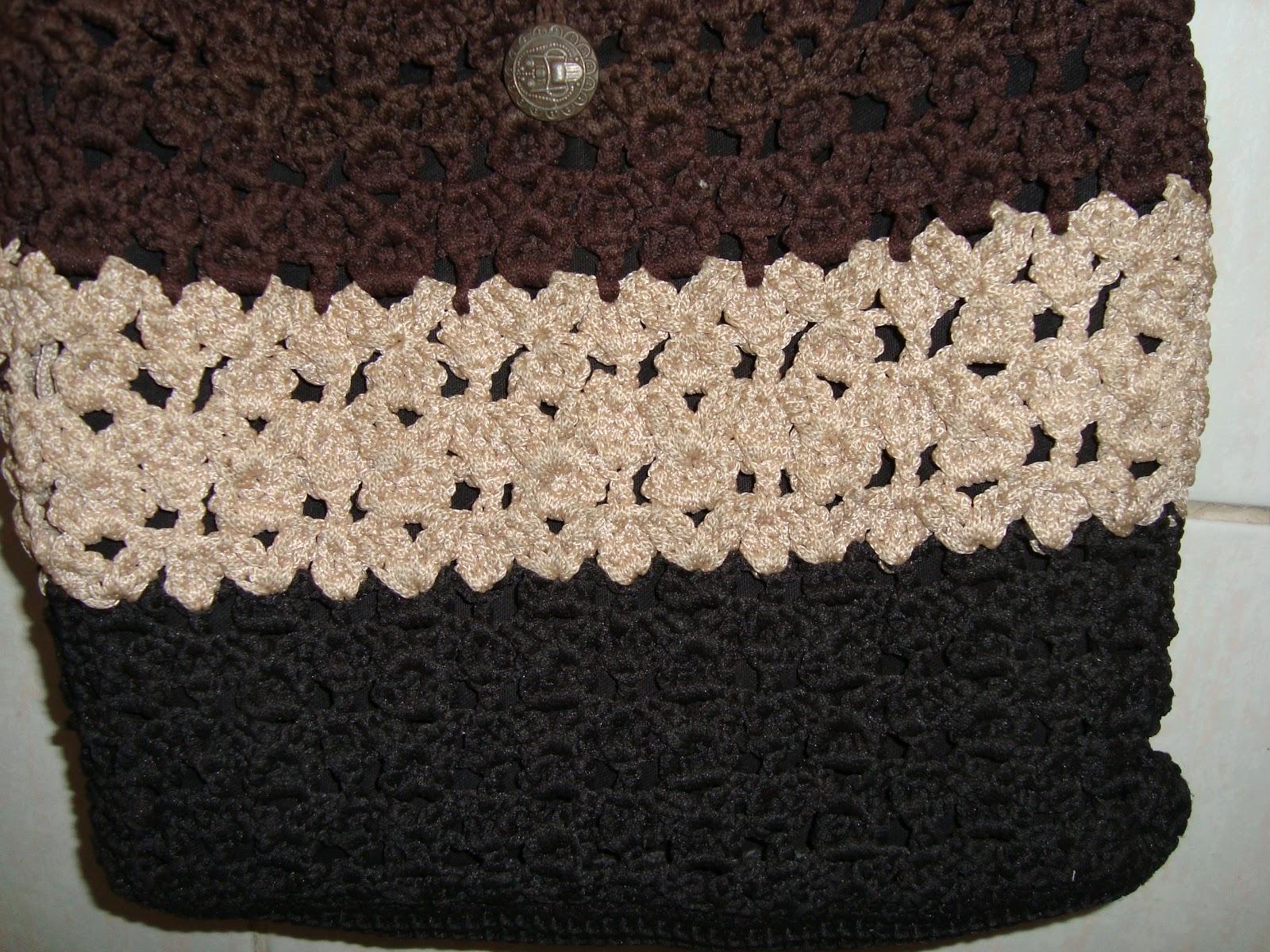 Bolso De Crochet Paso A Paso. Bolso De Flores Tejido A Crochet Paso ...