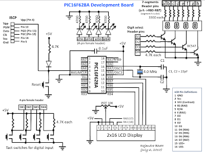 Pic16f628a Development Board Part 1 on serial port header