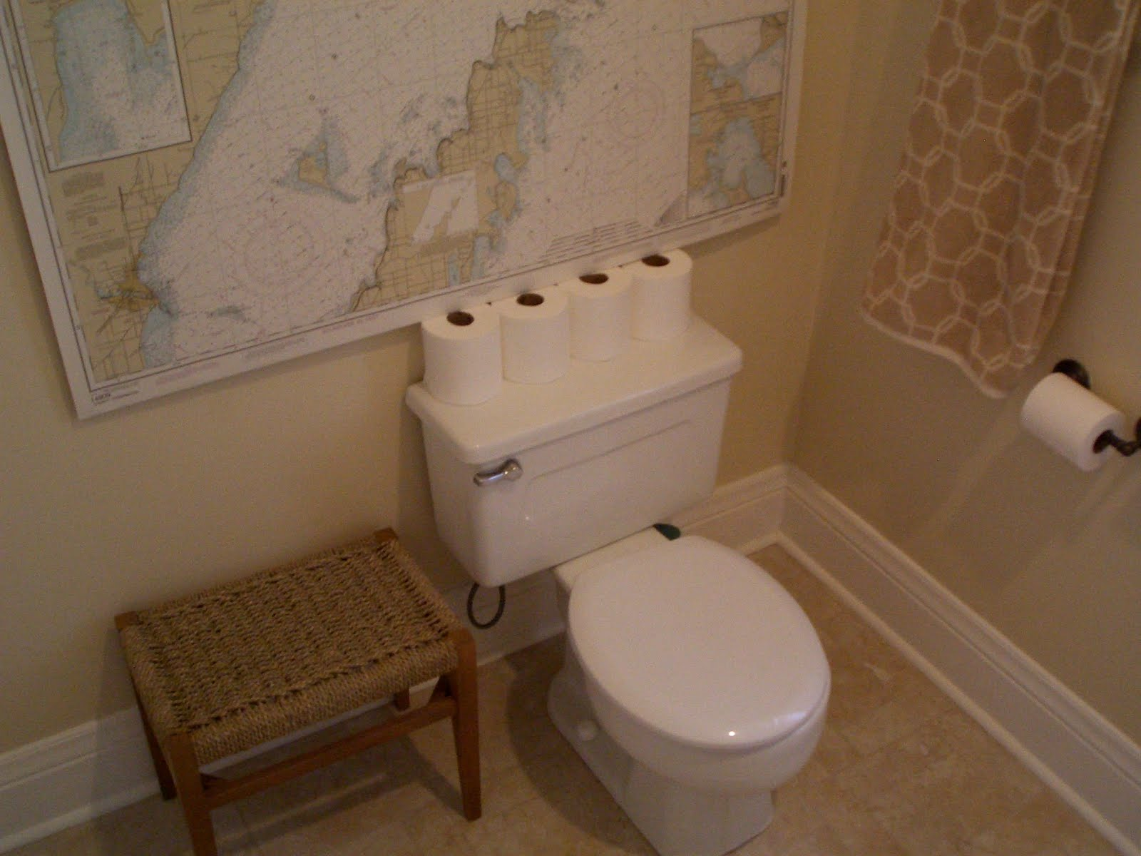 cream city and sugar redecorating the bathroom downstairs done