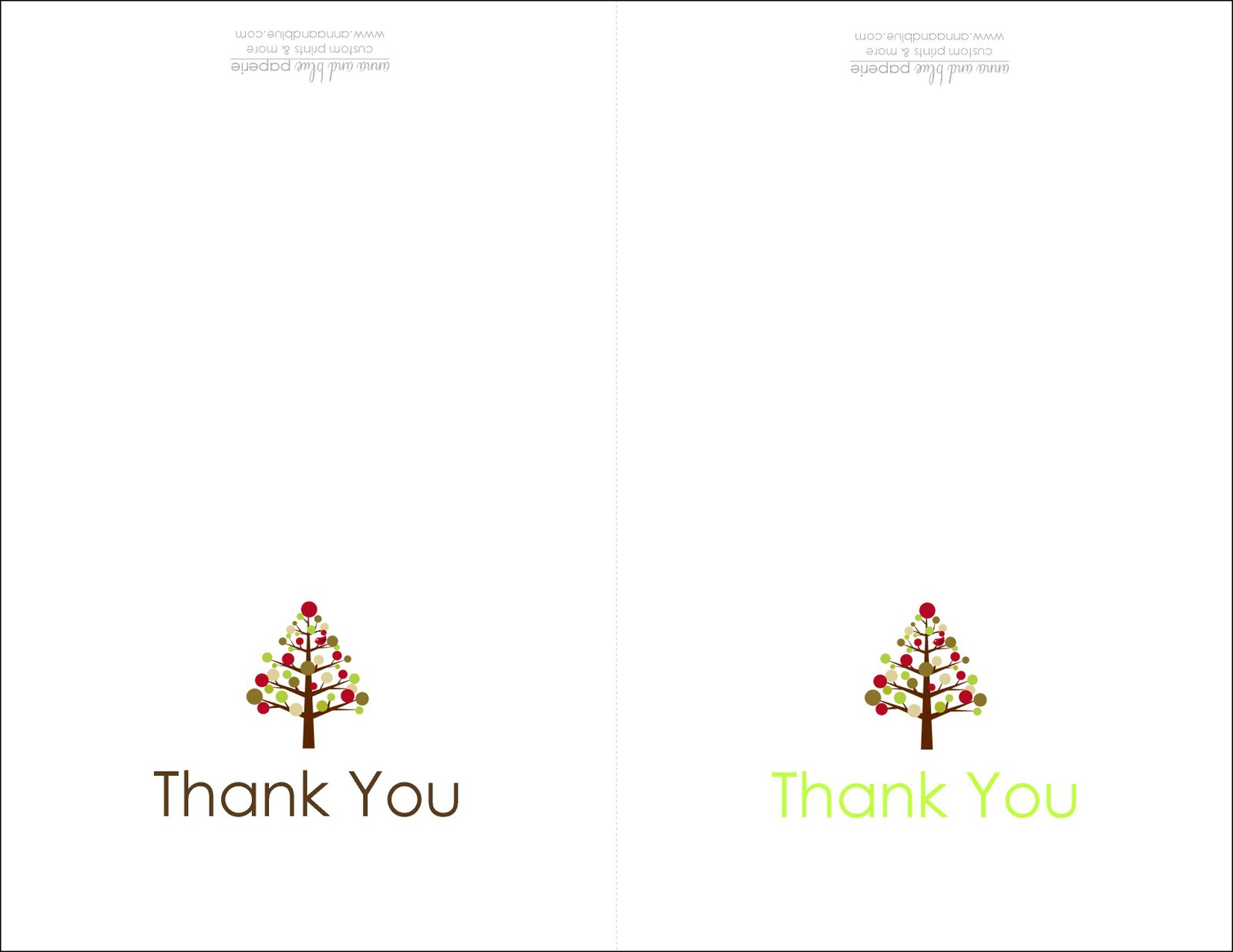 Anna And Blue Paperie Holiday Thank You Note