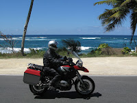 Neil Peart Beach Riding in Puerto Rico