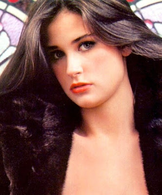 demi moore full bush