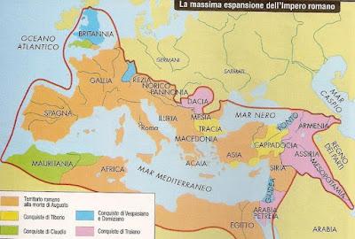 mappa, roma antica, impero romano, massima espansione, roma