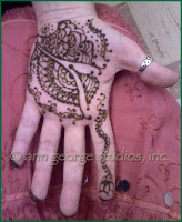 original henna tattoo palm of hand