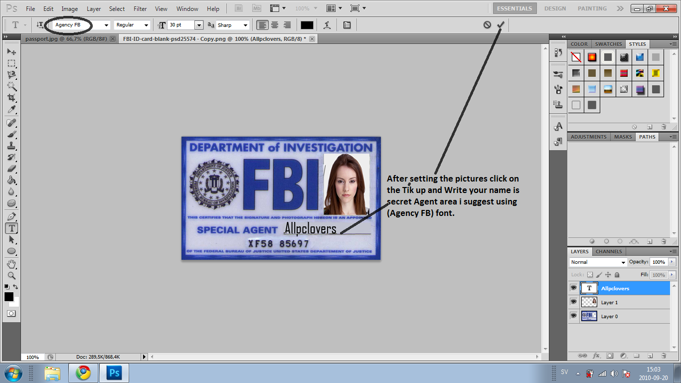 how to make a fbi id card so thanks for coming to our site see you guys at our next tutorial - How To Make Id Card