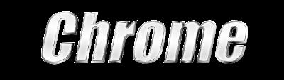 Texto com efeito metálico criado no Inkscape