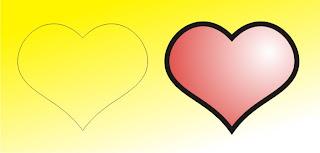 Desain Mudah Membuat Logo Hati di coreldraw