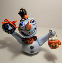SOLD Halloween Snowman