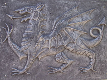 Welsh Dragon in Gaiman, Chubut. Patagonia