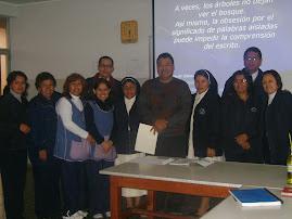 Un taller de lectura en el Colegio Niño Jesús de Praga, Callao