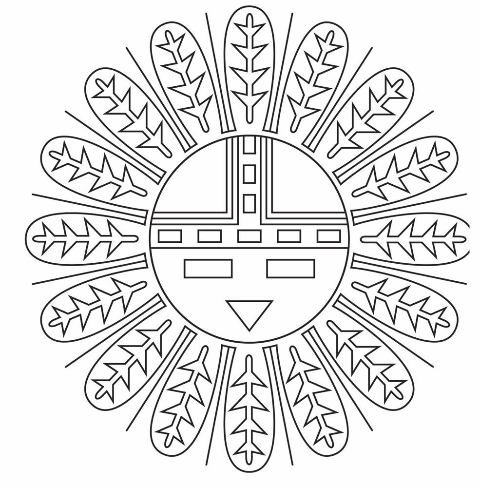 indian symbols coloring pages - photo#1