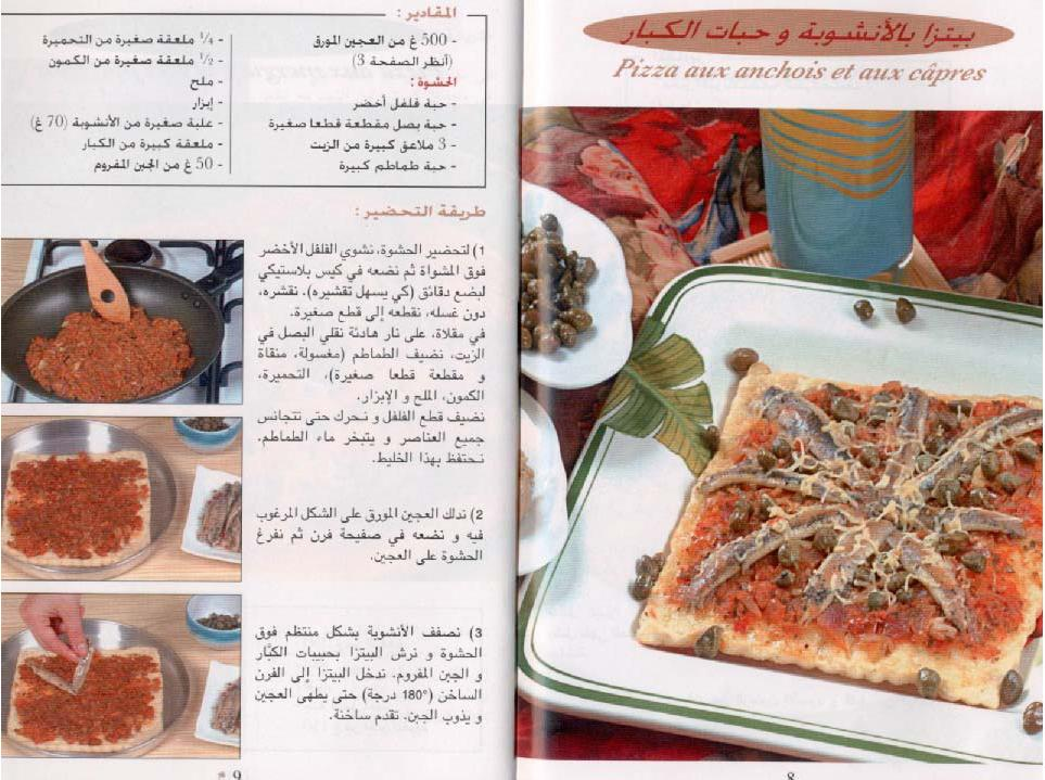 Khawla107 pizza aux anchois et aux c pres rachida amhaouche for Amhaouch rachida la cuisine