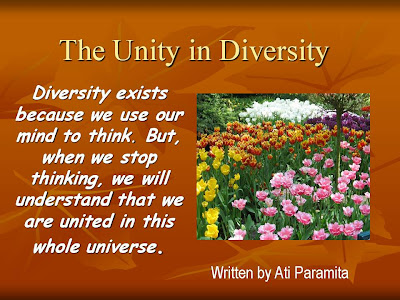 celebrating diversity but working for unity essays An essay on unity in diversity  but indoing them in connection with other tissues they are working  unity in diversity is a slogan celebrating co.