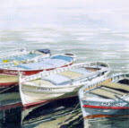 Four Boats by Ann March