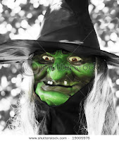Ugly Green Face Witch Halloween