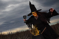 halloween magical witch wallpaper