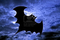Halloween Flying Bats Wallpaper
