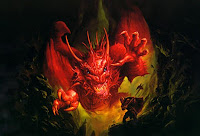 evil red dragon wallpaper