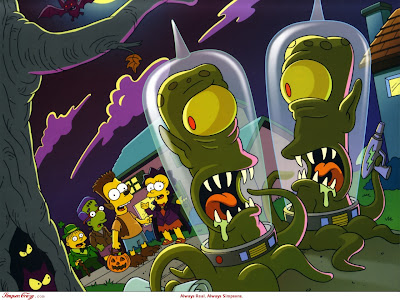 Free Simpsons Halloween Fright Wallpaper