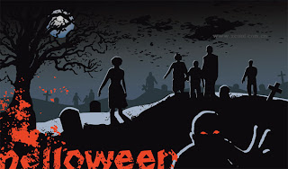 Scary Halloween Graveyard Wallpaper
