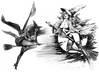 black and white wild witches