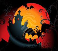 orange halloween night