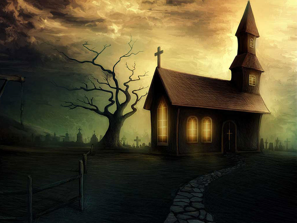 Halloween Wallpaper Spooky House Wallpaper Spooky Halloween House