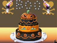 Animated Halloween Cake Wallpaper