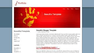 Portfolio XML Blogger Template