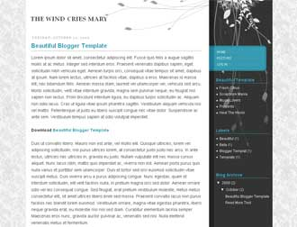 The Wind Cries Mary Blogger Template