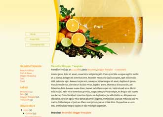 Fruit Blogger Templates