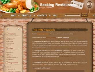 Seeking Restaurants Blogger Template