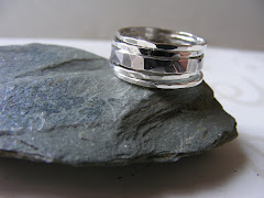 Orinoco.  Set Of Five Silver Stacking Rings