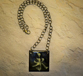 Eternity copper enamel pendant