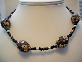 Clay and Seedbead Necklace.