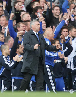 carlo ancelotti wins the premier league in his first season incharge